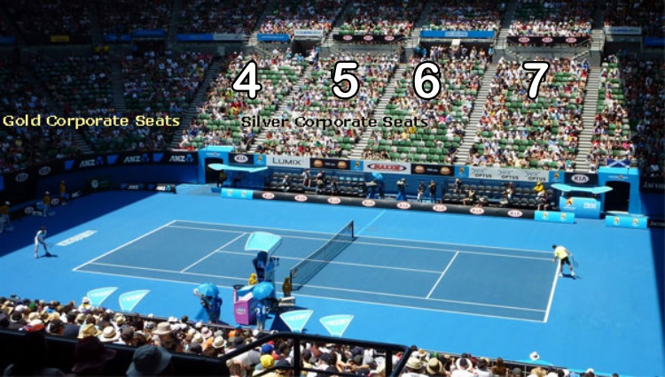 Australian Open Seating Guide Rod Laver Arena Eseats Com