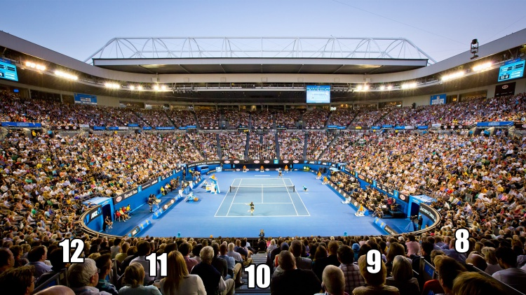 Australian Open Seating Guide Rod Laver Arena Eseats Com