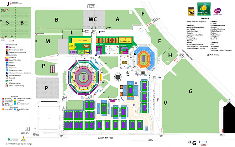 bnp paribas open site map indian wells tennis garden - Indian Wells Tennis Garden