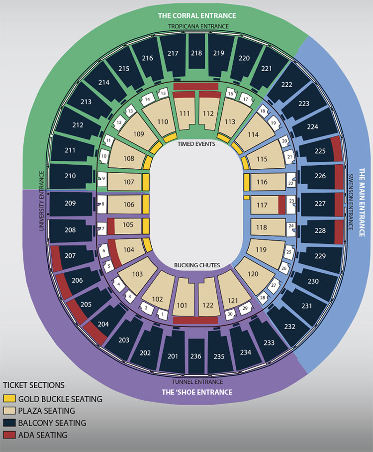 Nfr Rodeo Seating Guide Eseatscom