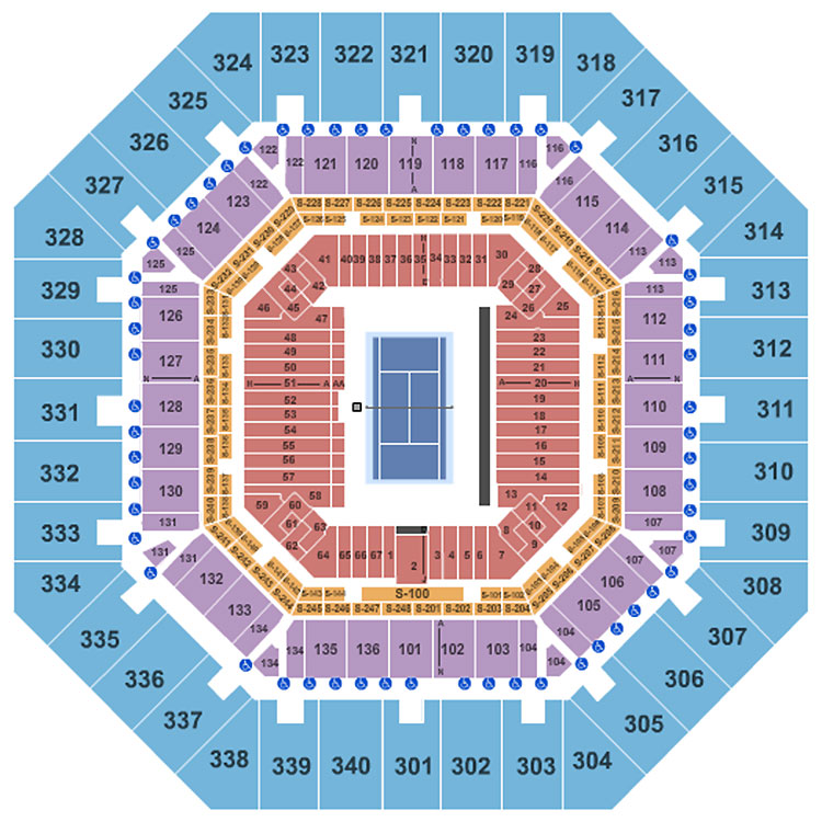Us Open Seating Guide Eseatscom