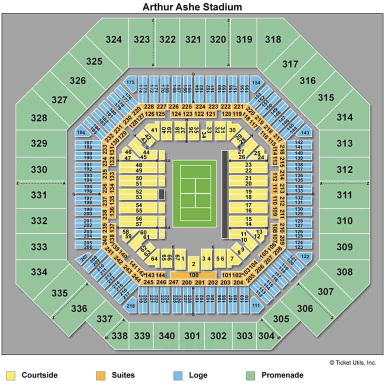 US Open Center Court Seating