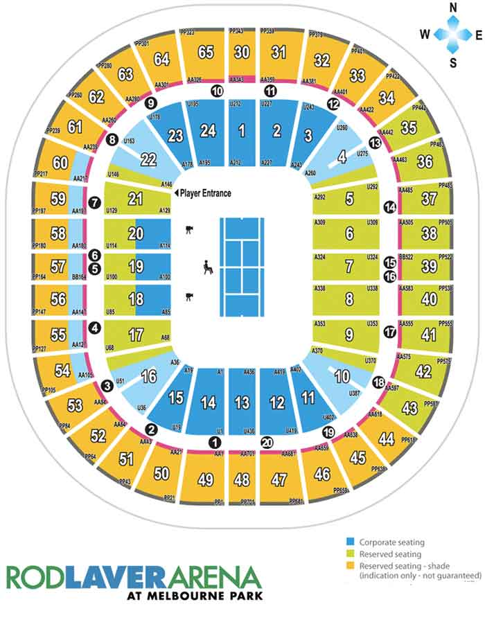 Australian Open Seating Guide | eSeats.com