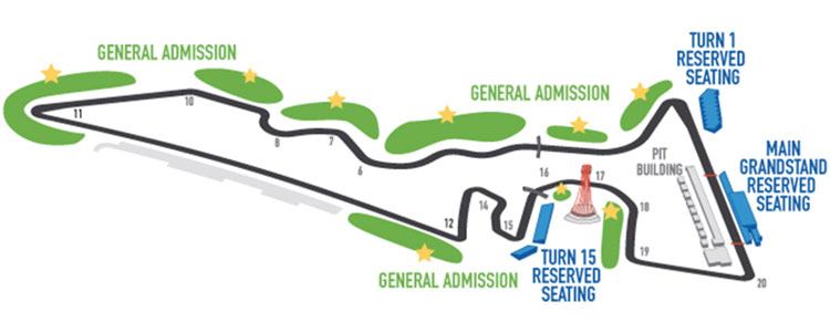 Us Grand Prix Formula 1 Austin Seating Guide Eseats Com