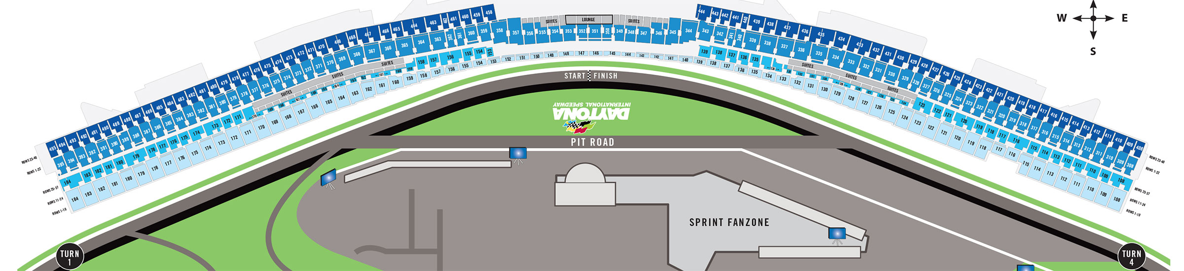 What is the Daytona seating chart?