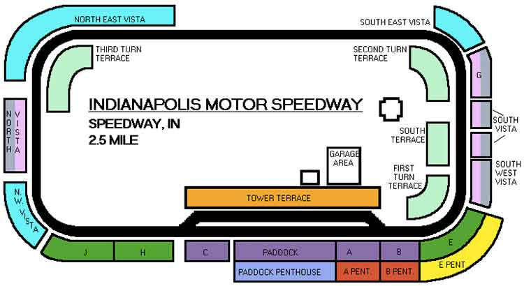 Indy 500 Seating Chart