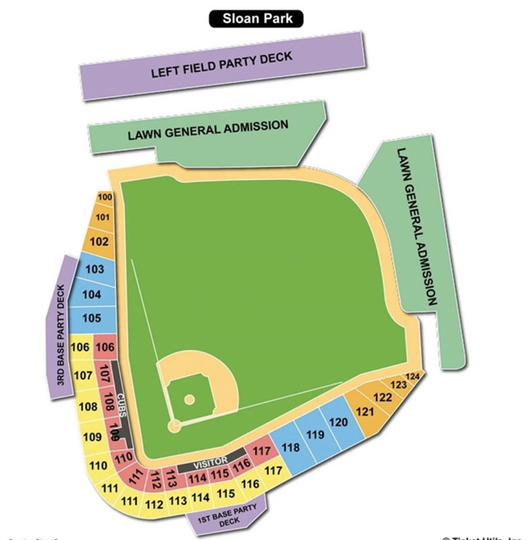 Cubs Spring Training Seating Chart Sloan Park Stadium