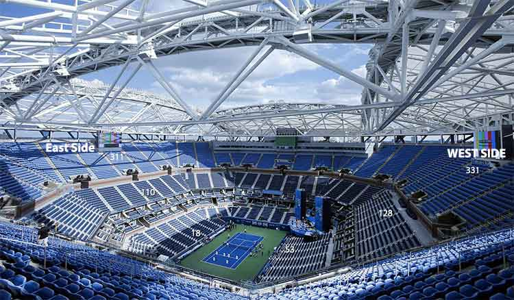 US Open Center Court Seating Guide
